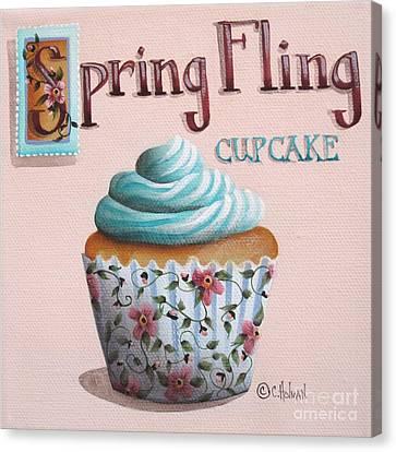 Spring Fling Cupcake Canvas Print by Catherine Holman