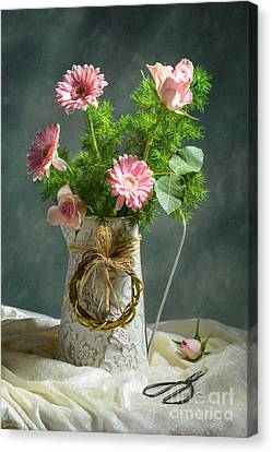 Spring Floral Bouquet Canvas Print by Amanda And Christopher Elwell