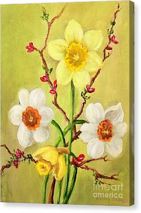 Spring Flowers 2 Canvas Print by Randy Burns