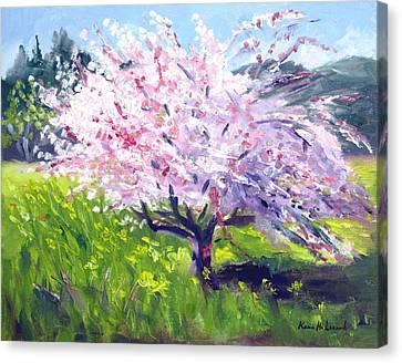 Spring Glory Canvas Print by Karin  Leonard