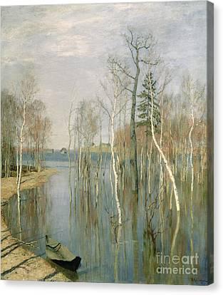 Spring High Water Canvas Print by isaak Ilyich Levitan