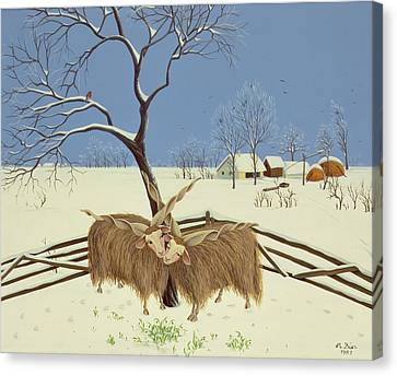 Spring In Winter Canvas Print by Magdolna Ban