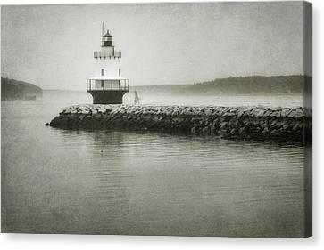 Spring Point Ledge Light Canvas Print by Joan Carroll