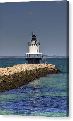 Spring Point Ledge Light Canvas Print by Joann Vitali