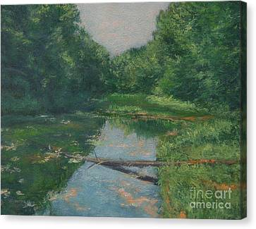 Spring Pond Reflection Canvas Print by Gregory Arnett