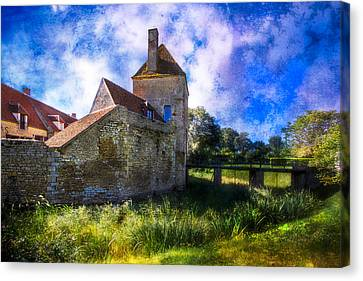 Spring Romance In The French Countryside Canvas Print by Debra and Dave Vanderlaan