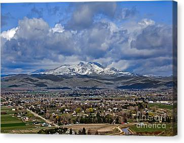 Spring Snow On Squaw Butte Canvas Print by Robert Bales
