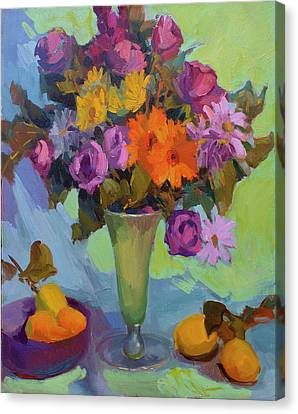 Spring Still Life Canvas Print by Diane McClary