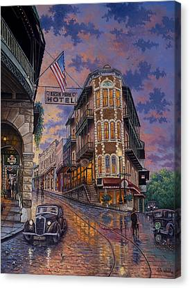 Spring Street Memories Canvas Print by Kyle Wood