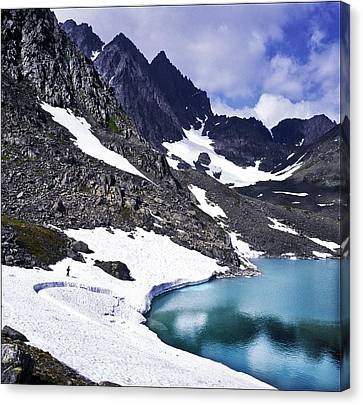 Spring Time In The Mountains Canvas Print by Vladimir Kholostykh