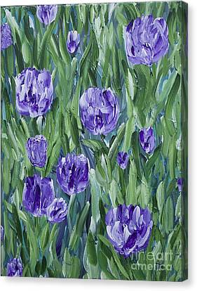 Spring Tulips  Canvas Print by Lisa  Telquist