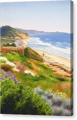 Spring View Of Torrey Pines Canvas Print by Mary Helmreich
