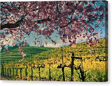 Springtime In Pink Canvas Print by John K Woodruff