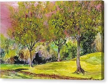 Springtime In Sawgrass Park Canvas Print by Gary Debroekert