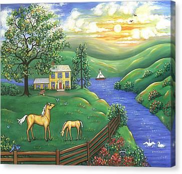 Springtime Canvas Print by Linda Mears