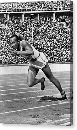 Sprinter Jesse Owens Canvas Print by Underwood Archives
