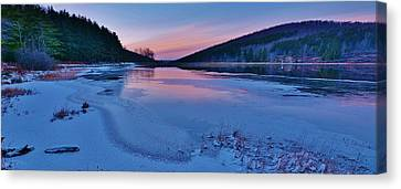 Spruce Knob Lake Sunset Canvas Print by Joshua Rexrode