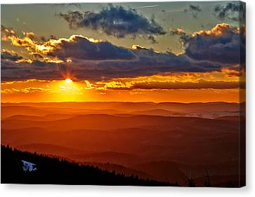 Spruce Knob Sunset Canvas Print by Brian Simpson