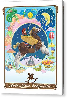 Spur Your Imagination Canvas Print by J L Meadows