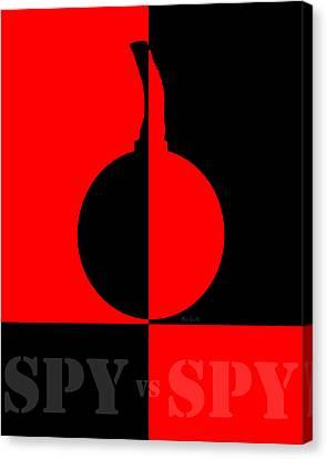 Spy Vs Spy Canvas Print by Bob Orsillo