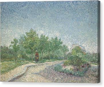 Square Saint Pierre Canvas Print by Vincent van Gogh