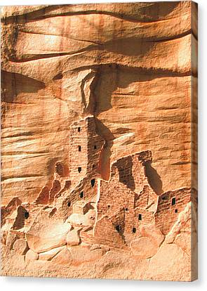 Square Tower House Mesa Verde Canvas Print by Carl Bandy