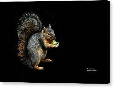 Squirrel - 8331 - F Canvas Print by James Ahn