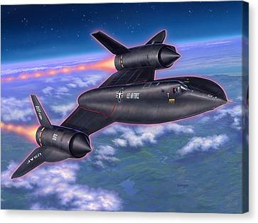 Sr-71 Blackbird Canvas Print by Stu Shepherd