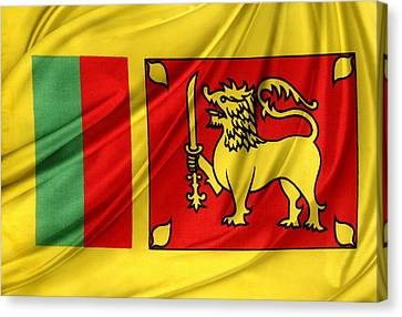 Sri Lankan Flag Canvas Print by Les Cunliffe
