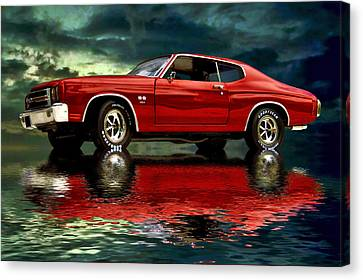 Chevelle 454 Canvas Print by Steven Agius