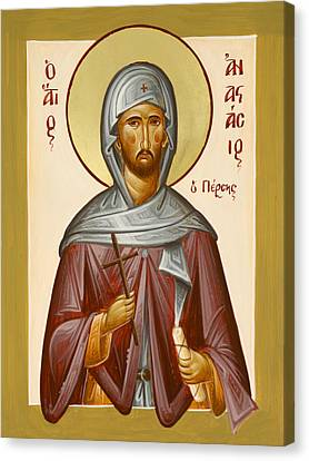 St Anastasios The Persian Canvas Print by Julia Bridget Hayes