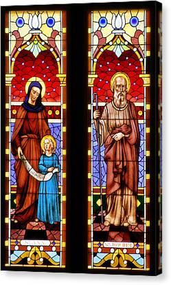 St Ann And St Joachim Canvas Print by Christine Till
