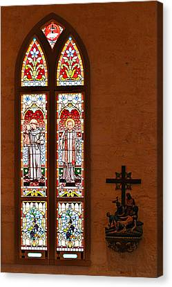St Anthony And St Francis Xavier Canvas Print by Christine Till