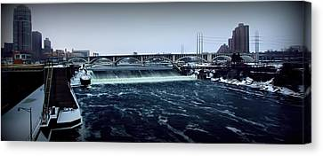 St Anthony Falls Minneapolis Canvas Print by Amanda Stadther