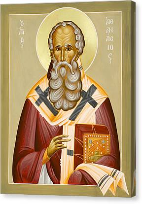 St Athanasios The Great Canvas Print by Julia Bridget Hayes