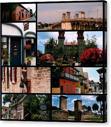 St Augustine In Florida - 1 Collage Canvas Print by Susanne Van Hulst