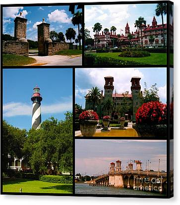 St Augustine In Florida - 2 Collage Canvas Print by Susanne Van Hulst