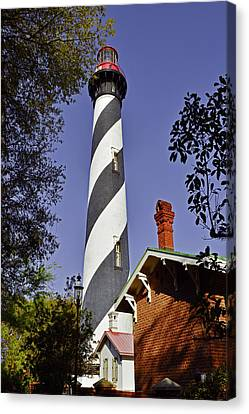 St Augustine Lighthouse - Old Florida Charm Canvas Print by Christine Till