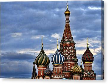St Basils Cathedral - Moscow Russia Canvas Print by Jon Berghoff