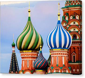 St Basils - Red Square - Moscow Russia Canvas Print by Jon Berghoff