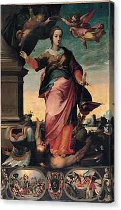 St Catherine Of Alexandria, 1570 - 1611 Canvas Print by Il Sozzo