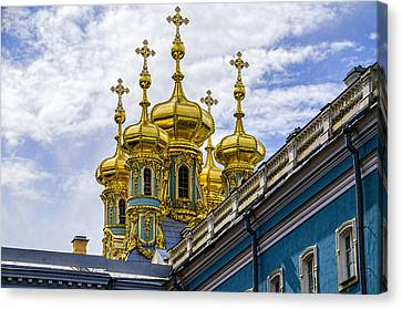 St Catherine Palace - St Petersburg Russia Canvas Print by Jon Berghoff