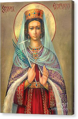 St. Catherine Canvas Print by Zorina Baldescu