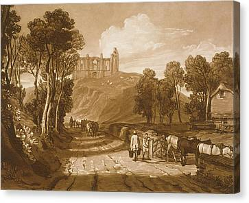St Catherines Hill Near Guildford Canvas Print by Joseph Mallord William Turner