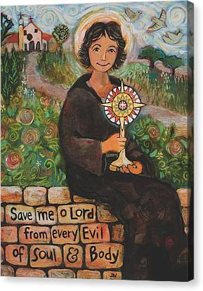 St. Clare Of Assisi Canvas Print by Jen Norton