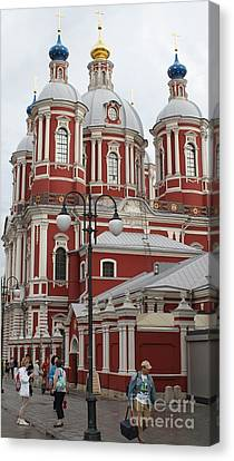 St Clement's Church In Moscow Canvas Print by Anna Yurasovsky