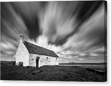 St Cwyfan's Church Canvas Print by Dave Bowman
