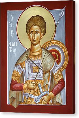 St Dimitrios The Myrrhstreamer Canvas Print by Julia Bridget Hayes