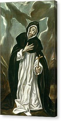 St Dominic Of Guzman Canvas Print by Celestial Images
