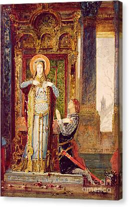 St Elisabeth Of Hungary Or The Miracle Of The Roses Canvas Print by Gustave Moreau